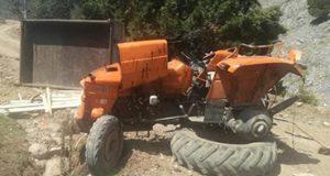 <center> Hanönü: Traktör 30 M'lik Uçuruma Yuvarlandı   </center><center><font color='blue'>1 ÖLÜ, 1 YARALI </font></center>